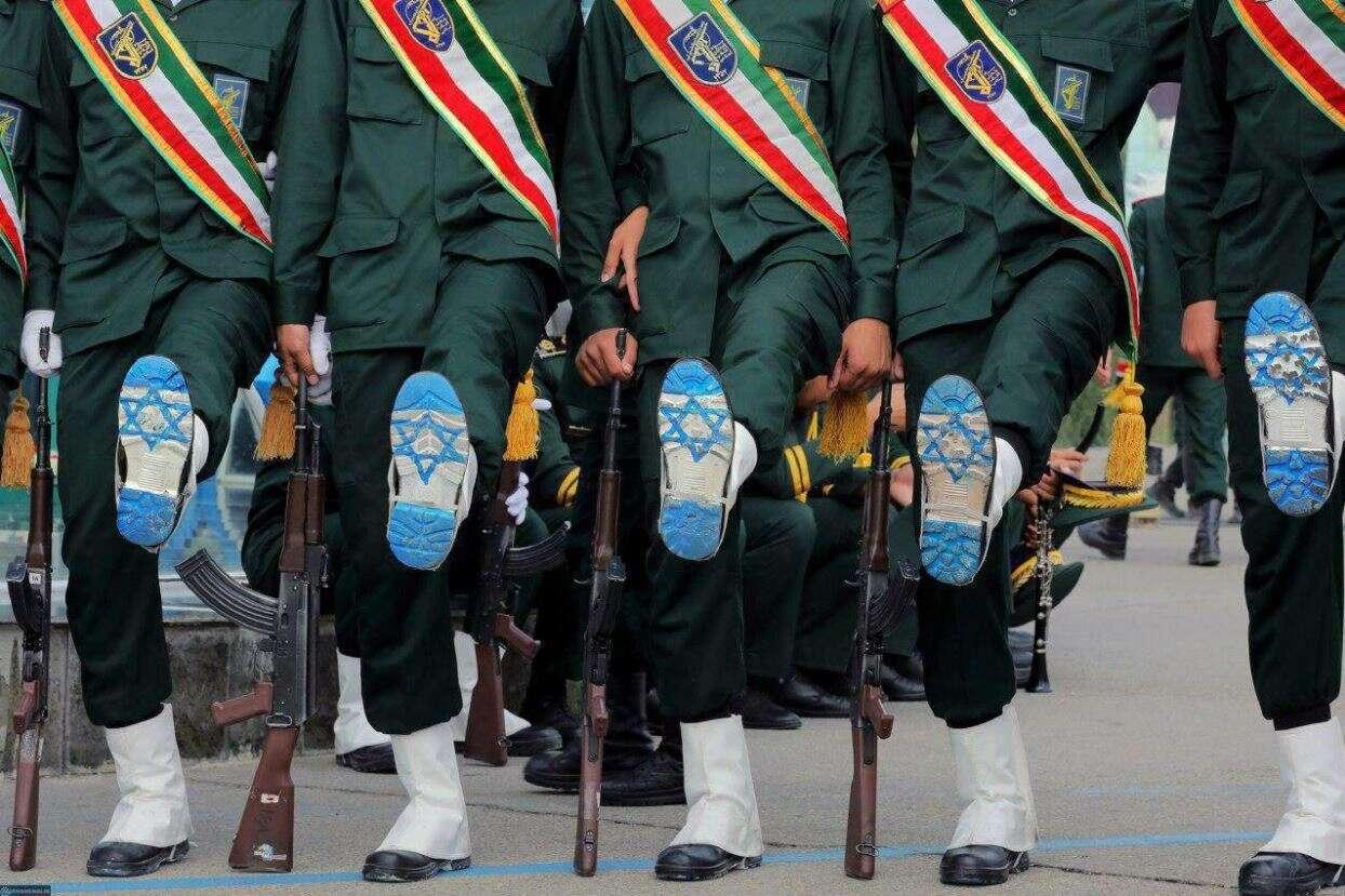 קורס קצינים באיראן: דגל ישראל בסוליות
