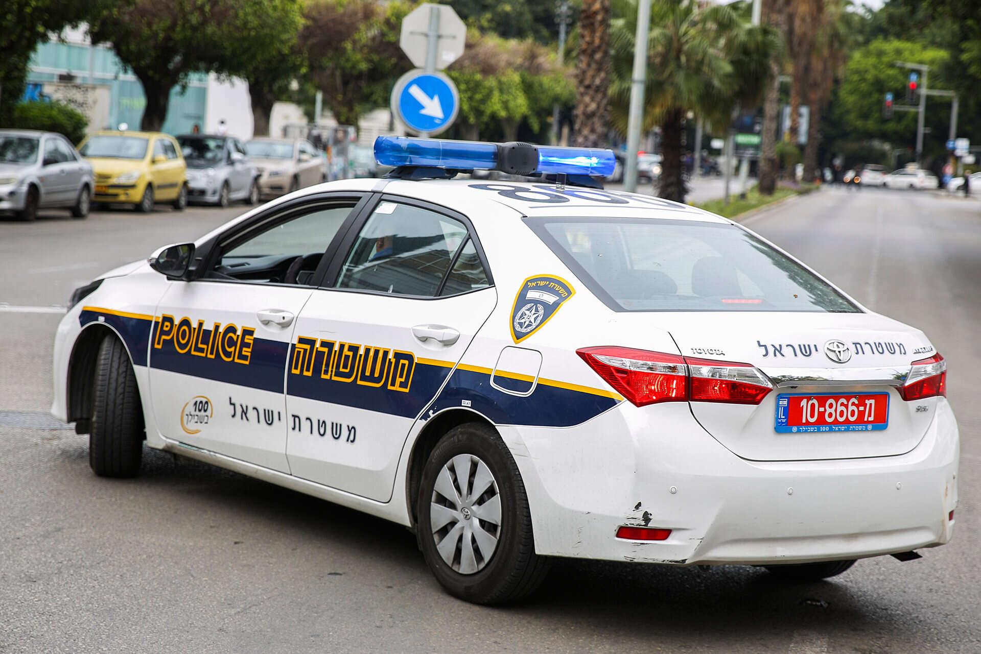 תקרית חריגה בי-ם: גנב רכב נורה במהלך מרדף משטרתי