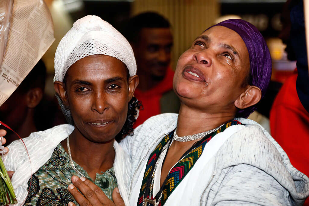 43 מבני קהילת הפלאשמורה נחתו בישראל