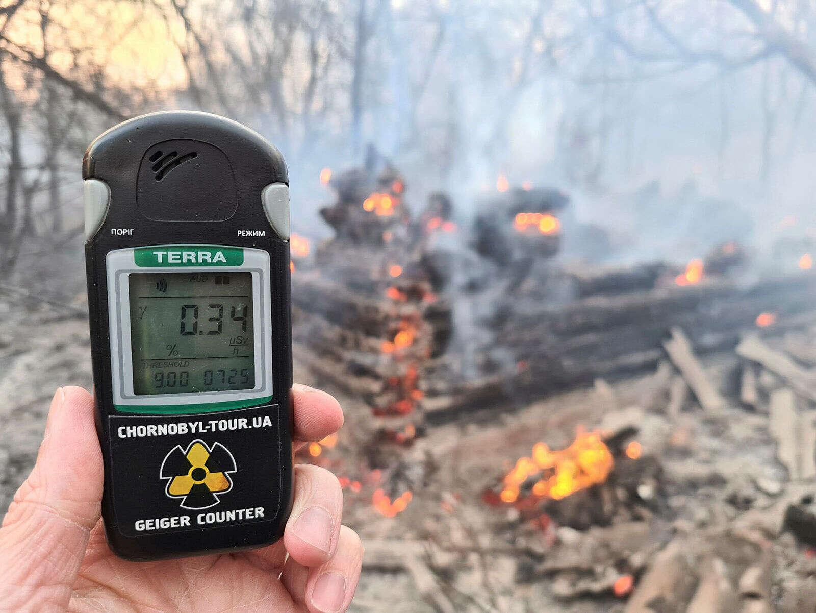 בעקבות שריפה: עלייה בקרינה ליד צ'רנוביל
