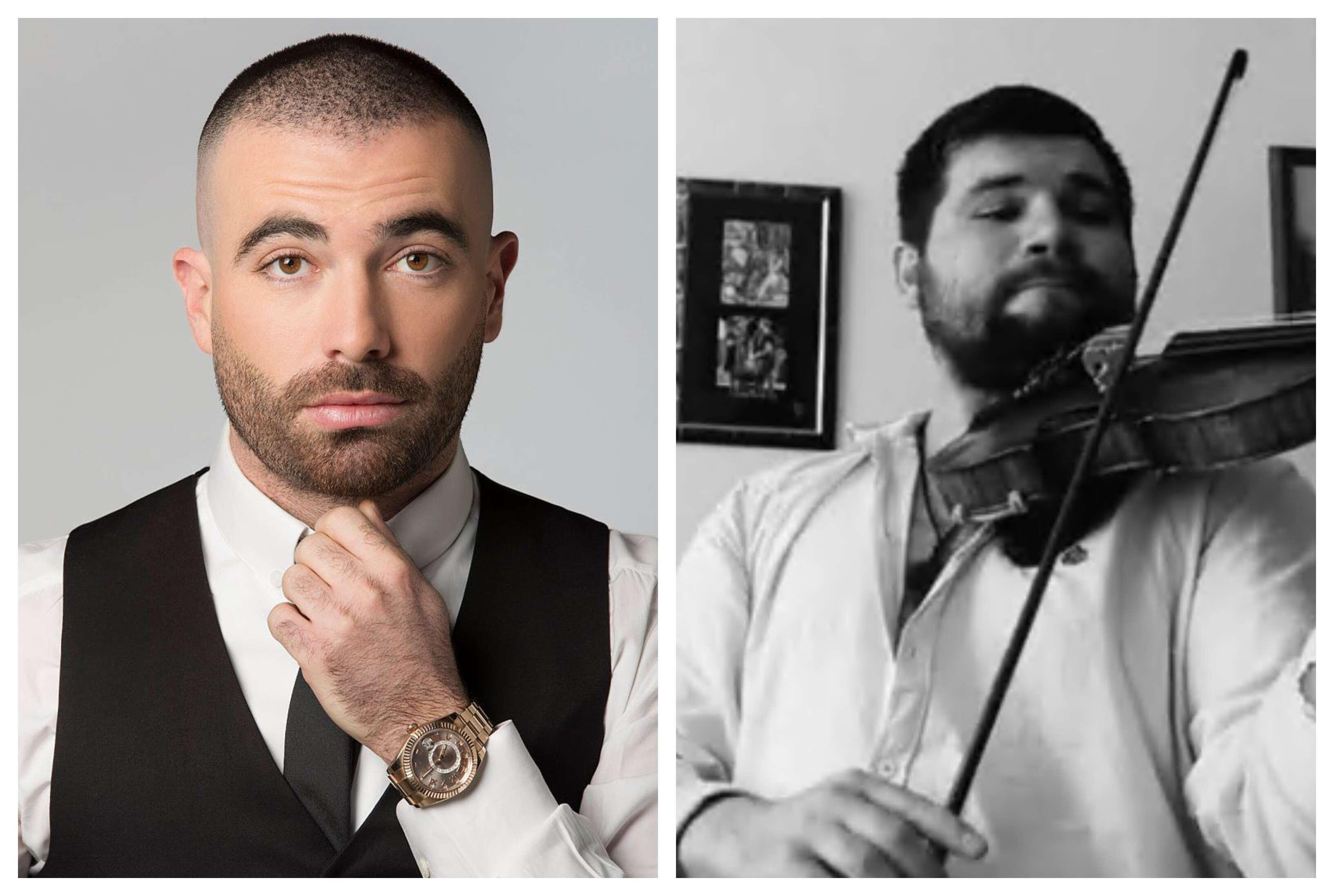 צפו: מורה לכינור בווינה מנגן ישי ריבו ועומר אדם