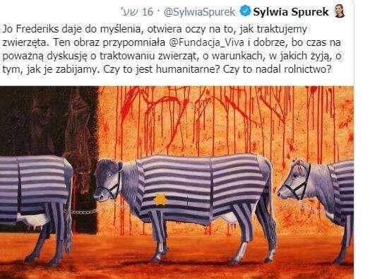 פולין: פוליטיקאית השוותה בין פרות ליהודים בשואה