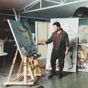 דוד ד'אור, צייר  //  צילום: שי בוזגלו