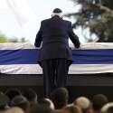 טקס הקבורה של שמעון פרס בהר הרצל // צילום: אי.פי