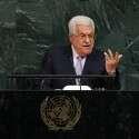 """אבו מאזן על בימת העצרת הכללית באו""""ם // צילום: איי.אף.פי"""