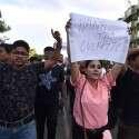 הפגנות בהודו נגד ווטסאפ לאחר הלינץ' // צילום: AFP