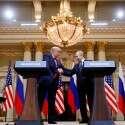 טראמפ ופוטין בוועידה בהלסינקי