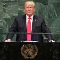 """טראמפ בנאומו בעצרת האו""""ם // צילום: Reuters"""