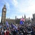 מפגינים נגד הברקזיט // צילום: אי. פי. איי