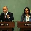 איילת שקד ונפתלי בנט במסיבת העיתונאים // צילום: אורן בן חקון
