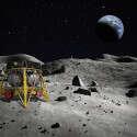 בראשית על אדמת הירח. בינתיים הדמיה, בקרוב מציאות // צילום: SpaceIL