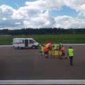 הטייס המעולף מפונה לבדיקות רפואיות