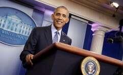 אובמה בנאום האחרון בבית הלבן// צילום: רויטרס