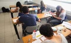 תלמידים בכיתה בישראל, אילוסטרציה // צילום: יהושע יוסף