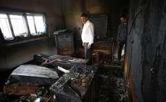 הבית של משפחת דוואבשה בדומא, לאחר ההצתה // צילום: אי.פי.אי