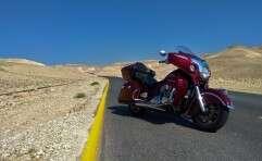 האופנוע הזה מיועד לחצות יבשות, לא מדינות קטנות במזרח התיכון