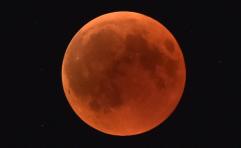 ליקוי ירח שנצפה בשנה שעברה מעל טבריה // צילום: גיל אליהו - ג'יני