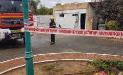 יחידת הדיור שנשרפה // צילום: דוברות המשטרה