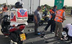 זירת התאונה בכביש 40 // צילום: דוברות מד''א