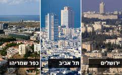 """ירושלים בתחתית, כפר שמריהו ות""""א בצמרת // צילומים: דודי ועקנין"""