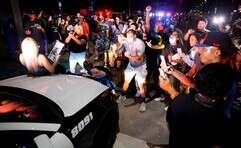 המחאה בעיר דאלאס יצאה משליטה // צילום: אי.פי