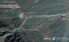 נמצא בשלבי בנייה. תצלום לווייני של מתקן הגרעין החדש, בנתנז, שלשום // צילום: איי.פי.