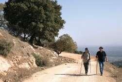 מטיילים בדרך נוף הכרמל. הדרך המתפתלת משקיפה על יקנעם ועמק יזרעאל, הקישון ונמל חיפה