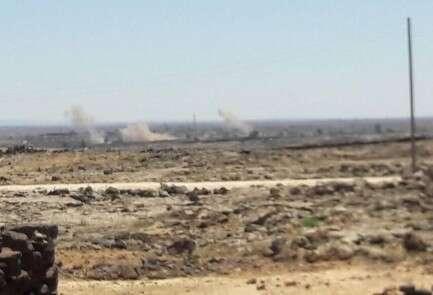 הפגזת כוחות המשטר על עמדות המורדים סמוך לעיירה לג'ת
