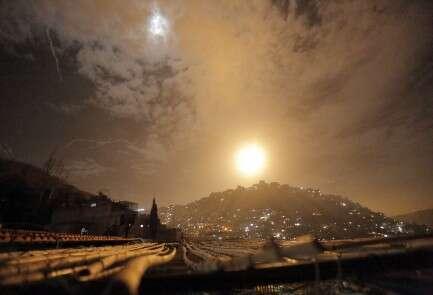 המתקפה בדמשק, אמש // צילום: אי.פי.איי