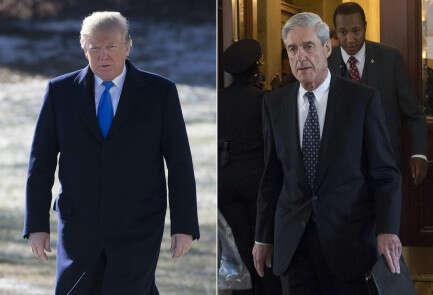 החוקר המיוחד רוברט מולר, נשיא ארה''ב דונלד טראמפ // צילום: אי.אף.פי