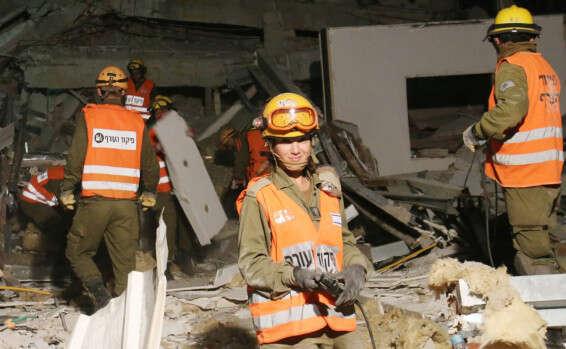 פיקוד העורף מתרגל רעידת אדמה, דצמבר 2015  //  צילום ארכיון: הרצי שפירא
