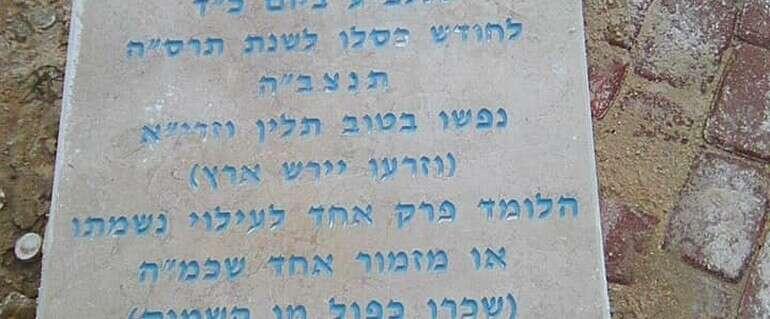 המצבה החדשה // צילום: אברהם רביץ