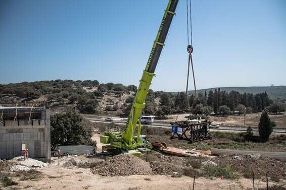 Evidence of the activity of Jewish agricultural farms in the area.  The mikveh that was transferred from its location, today // Photo: Israel Antiquities Authority