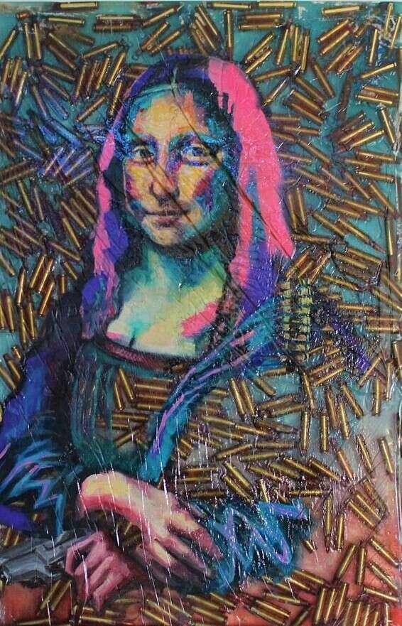 """Grande puissance artistique.""  Peinture d'Eitan Amram // Photo: Eitan Amram"
