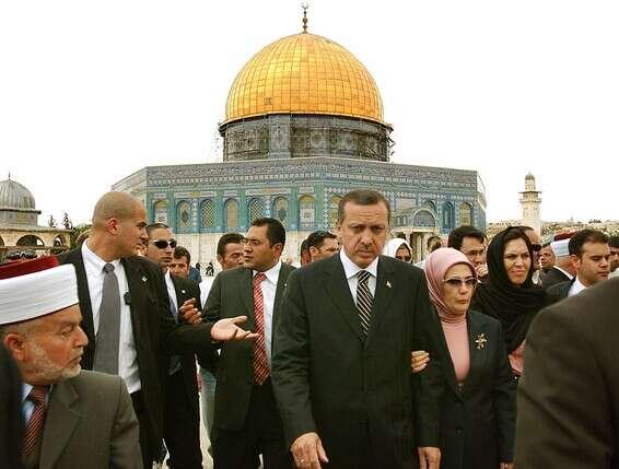 ארדואן בביקור בירושלים בשנת 2006 // צילום: איי.פי