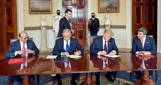 La signature des «Accords Abraham» à la Maison Blanche // Photo: Avi Ohayon - GPO