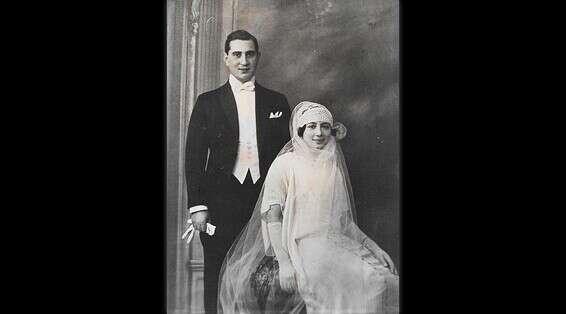 Frank Eini et sa femme le jour de leur mariage // Photo: gracieuseté de la famille Batzri