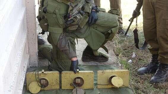 La cargaison après neutralisation // Photo: porte-parole de Tsahal