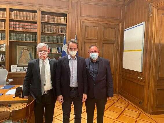 """הפגישה ביוון עם רה""""מ וסגן שר הבריאות היווניים // באדיבות ממשלת יוון"""