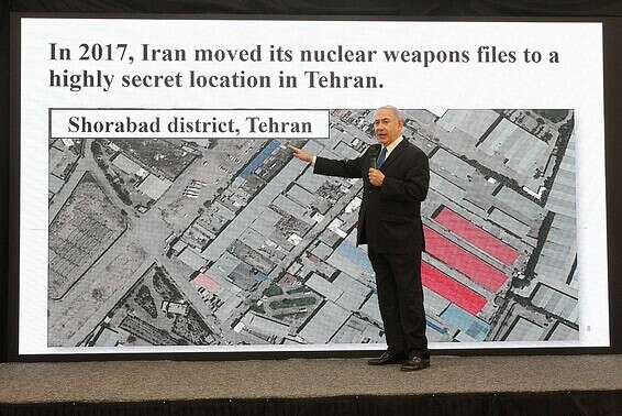 Netanyahu unveils the nuclear archive, 2018 // Photo: Coco