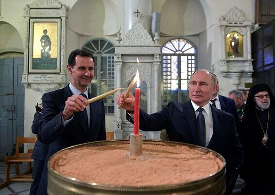 Syrian President Assad with Russian President Putin in Damascus, January // Photo: Reuters