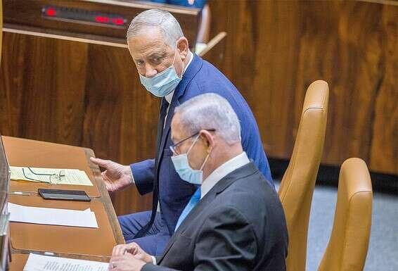 Les chances de compromis sont presque nulles. Le Premier ministre Netanyahu et le vice-Premier ministre Gantz // Photo: Oren Ben Hakon