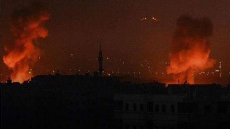 """דיווח: תקיפה ישראלית בסוריה - מערכות נ""""מ ירו לעבר כלי הטיס FEEFEFEF"""