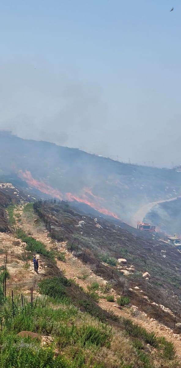 האש התחדשה: שריפות באזור שורש ושואבה, חשד להצתה ביצהר